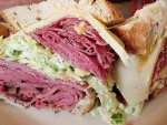 Corned beef and pastrami sandwich from 3 G's Gourmet Deli in Delray Beach.