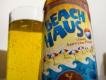 A bottle and glass of Beach Haus local craft beer from the Jersey Shore.