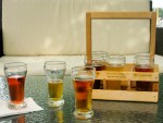 A beer sampler from Dockside Restaurant & Brewing Company in Vancouver.