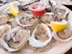 Long Island oysters on the half shell in Montauk, New York
