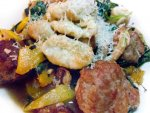 Locally sourced vegetable gnocchi from Cambridge Brewing Company in Boston.