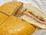 A muffuletta sandwich from Central Grocery in New Orleans.