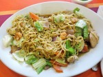 Pancit canton noodles from Manila, the Philippines
