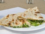 A piadina sandwich from Bar Leneredi in Riccione, Italy