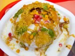 Raj kachori from Haldiram's in Delhi, India.