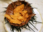 Fresh sea urchin in a San Francisco restaurant