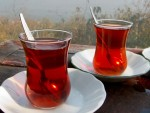 Traditional tea serving in Istabul, Turkey