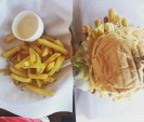 Huge Burger and Fries